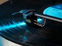 Macro of record turntable cartridge Stock Photos