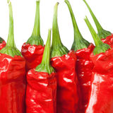 Macro of red chili peppers Royalty Free Stock Photo