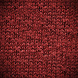 Macro red  Cotton Texture Stock Photography