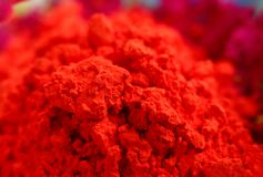 Macro of red gulal, shallow depth of focus Stock Photos
