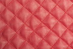 Macro of red leather Stock Images