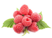 Macro of red raspberry Royalty Free Stock Photos
