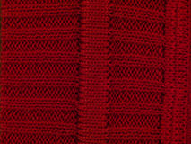 Macro red sweater Stock Images