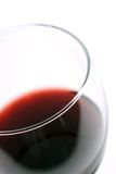 Macro of red Wine. Macro of a glass of wine with shallow focus on the glass lip royalty free stock photography