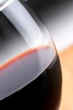 Macro of red Wine. Macro of a glass of wine with shallow focus on the glass lip royalty free stock photos