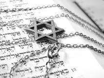 Macro religiosa ebrea 2 di simboli Fotografie Stock