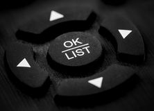 macro of remote control Stock Photography