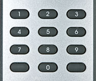 Macro of remote keypad Stock Photo