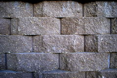 Macro of Retaining wall Royalty Free Stock Photos