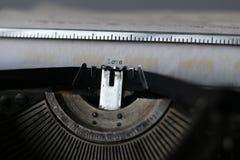 Macro retra de la máquina de escribir Fotos de archivo