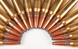 Macro of rifle bullets Stock Photography