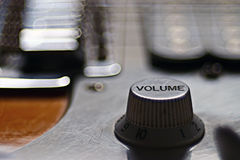 Macro roche d'instrument de musique de guitare Photos stock