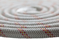 Macro of rope roll Stock Photos