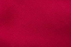Macro rossa di struttura del cotone Fotografia Stock