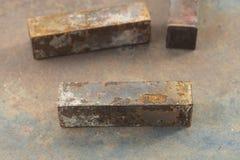 Macro of rusty metal bar Royalty Free Stock Photo