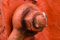 Macro on a rusty nautical mechanism Royalty Free Stock Photos