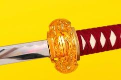 Macro Samurai Sword Royalty Free Stock Image
