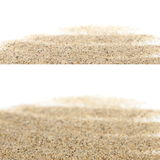 Macro sand isolated on white background Royalty Free Stock Photos