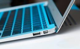 Macro schot van contactdoos USB stock foto's