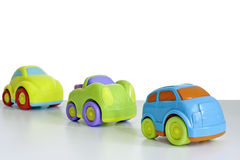 Macro schot van een stuk speelgoed auto Stock Foto's