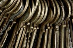 Macro schot van sleutels stock foto