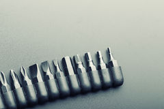 Macro of screwdriver bits Royalty Free Stock Image