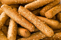 Macro of Sesame Seed Breadsticks. A close up shot of sesame seed breadsticks Stock Photos