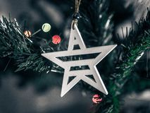 Macro Shift Photography of White Wooden Star Christmas Decor Stock Photography