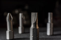 Macro Of A Shiny Slotted Bit Stock Photography