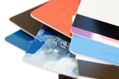 Macro shoot of a credit card Royalty Free Stock Image