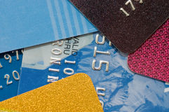 Macro shoot of a credit card Royalty Free Stock Image