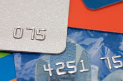 Macro shoot of a credit card Stock Photo