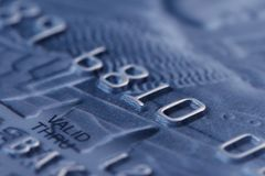 Macro shoot of credit card Royalty Free Stock Image