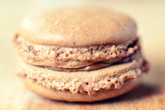 Macro shoot of macaroon cookie Stock Photography