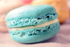 Macro shoot of macaroon cookie Royalty Free Stock Photos