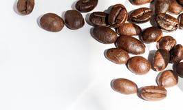 Macro shooting Coffee bean. Coffee bean on white paper Royalty Free Stock Photos