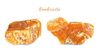 Macro shooting of natural gemstone. Mineral simbircite. Isolated object on a white background. Macro shooting of natural gemstone. Mineral simbircite. Isolated Royalty Free Stock Photography