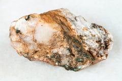 raw Albite stone on white Royalty Free Stock Images