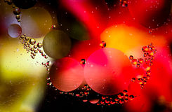 Macro shot of abstract oil in water droplets Royalty Free Stock Photos