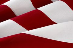 Macro shot of American flag Royalty Free Stock Photo
