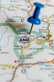 Andorra on map stock photos