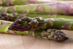 Macro shot of asparagus Stock Photos