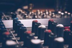 Macro Shot Audio Equalizer Royalty Free Stock Image