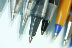 Macro shot of ballpen Royalty Free Stock Images