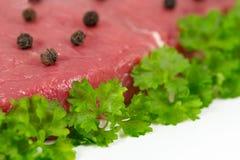Macro shot of beef Stock Photo