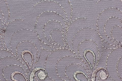 The macro shot of the black and grey lace texture material Royalty Free Stock Photos