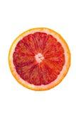 Macro shot of a blood orange isolated on white Stock Image