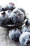 Macro shot of blueberries Stock Photos