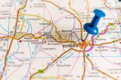 Burgos on map royalty free stock image