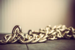 Macro shot of chain Stock Image